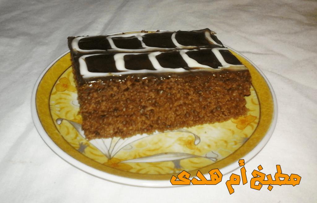 كيكة الشوكولاته لذيذة المذاق و سهلة التحضير تحتاج فقط الى مكونات بسيطة و القليل من الوقت